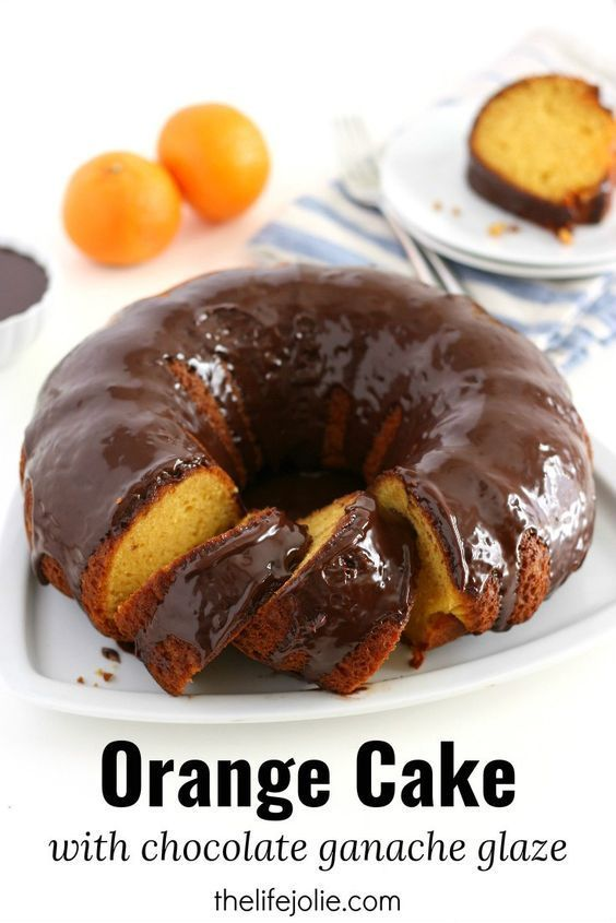 Orange Cake with Chocolate Ganache Glaze | Recipe | Orange ...
