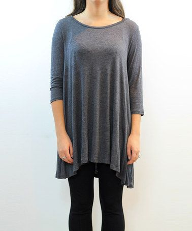 Take a look at this Charcoal Scoop Neck Tunic on zulily today!