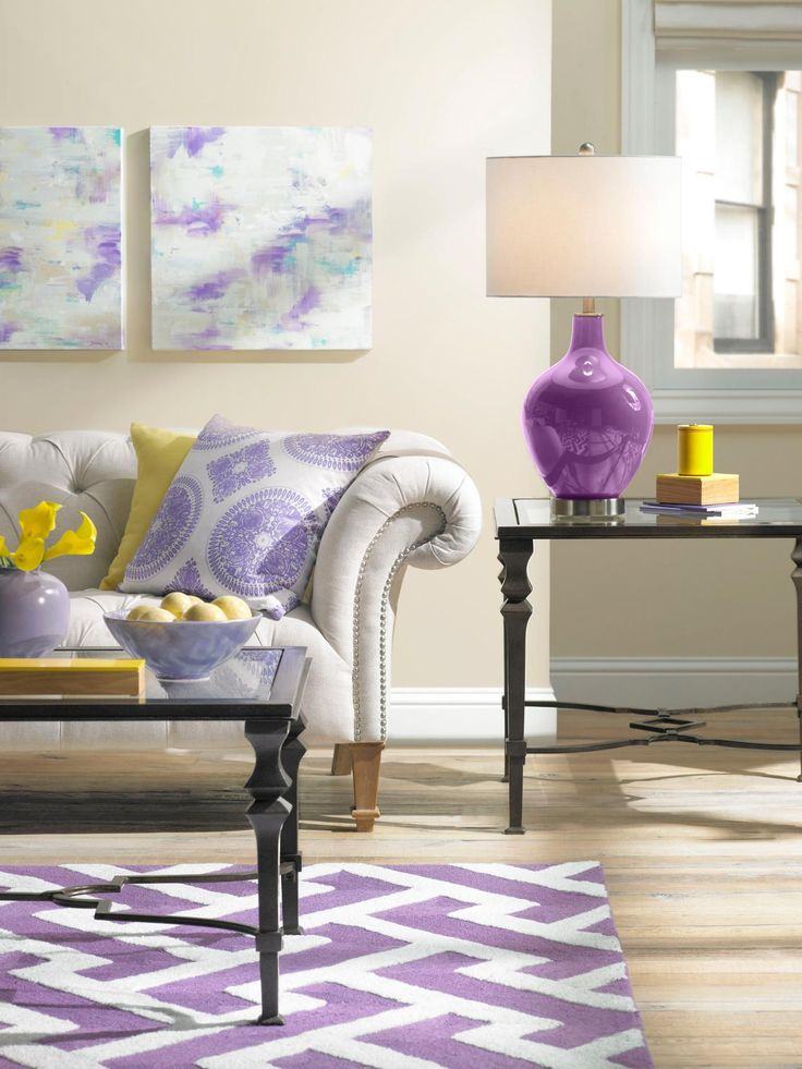 Love The Radiant Orchid With Bright Yellow Decorate Pantones 2014 Color Of Year