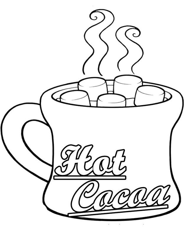 hot cocoa mug coloring sheet in 2020 hot chocolate mug food coloring pages hot cocoa pinterest