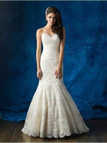 robe de mariage dentelle col en coeur