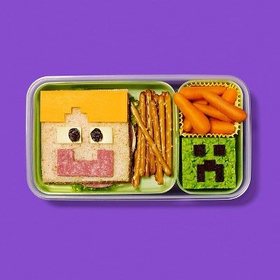 All it takes is a little imagination and a few simple ingredients to bring these 8-bit heroes to life in your kid's lunchbox.