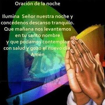 Oracion de la noche.