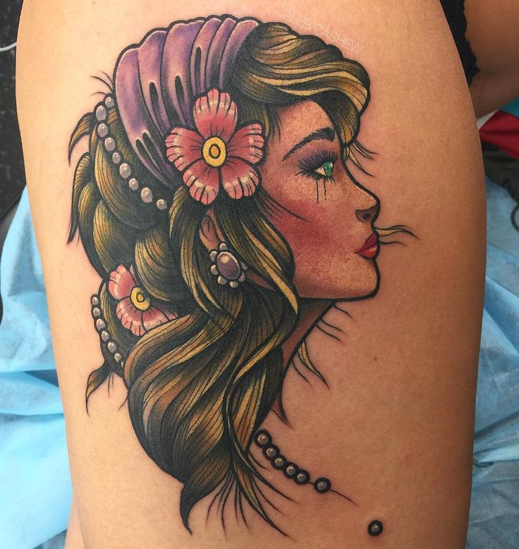 """Gypsy Girl"" by Caleb at Fortunate Son Tattoo Las Vegas"