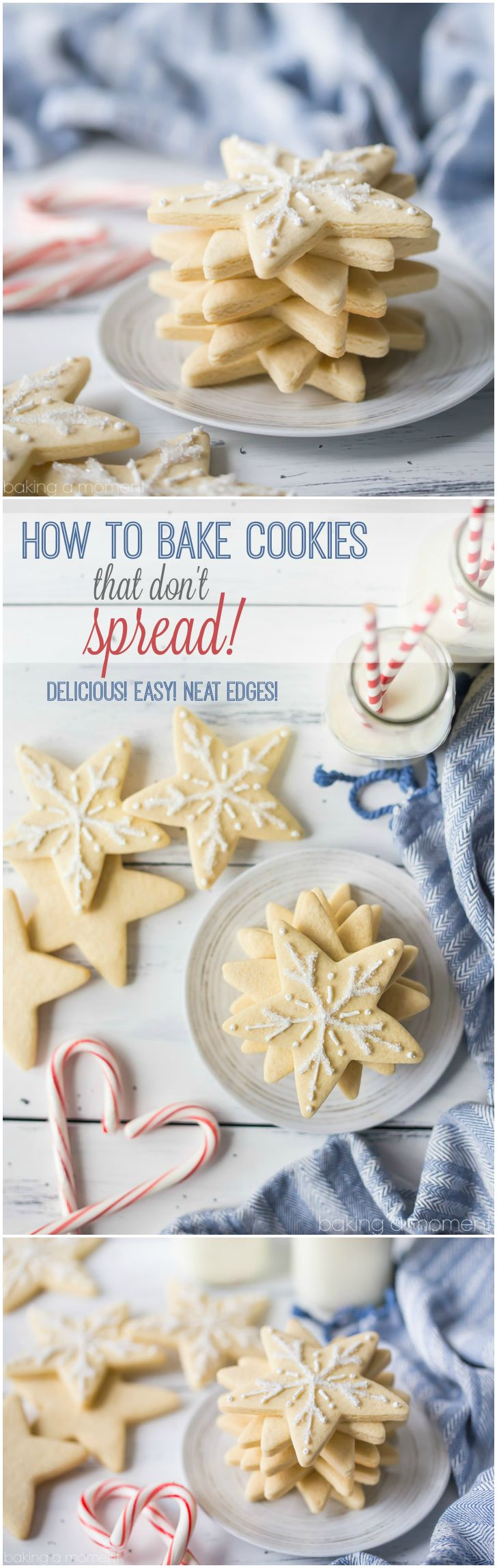 Learn the secrets to baking cutout cookies with neat edges, that won