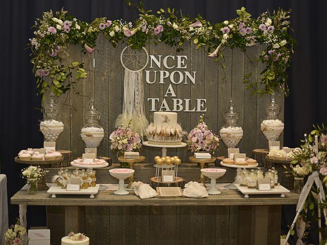 "Photo 2 of 42: Rustic, Bohemian Chic Dessert Table / Wedding ""Confetti Fair"" | Catch My Party"