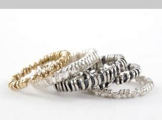 Faith Tavender stack rings.