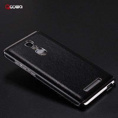 New arrival Top Quality soft leather back case For Xiaomi Redmi Note 3 Mobile Phone back cover for redmi note3 in stock