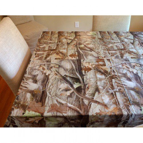 Next Camo Party Supplies Heavy Duty 54in x 108 in Plastic Tablecover $6.50 #topseller
