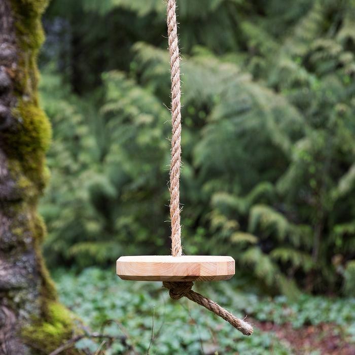 Wood Rope Tree Swing