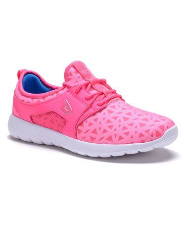 Loving this Pink Thick-Sole Round-Toe Running Shoe on #zulily! #zulilyfinds