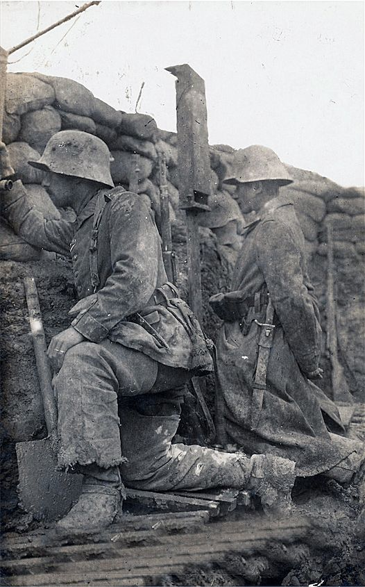 German Trench on the Western Front 1916