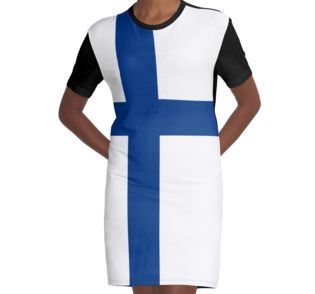 Graphic T-Shirt Dress  #finland #finnish #flag