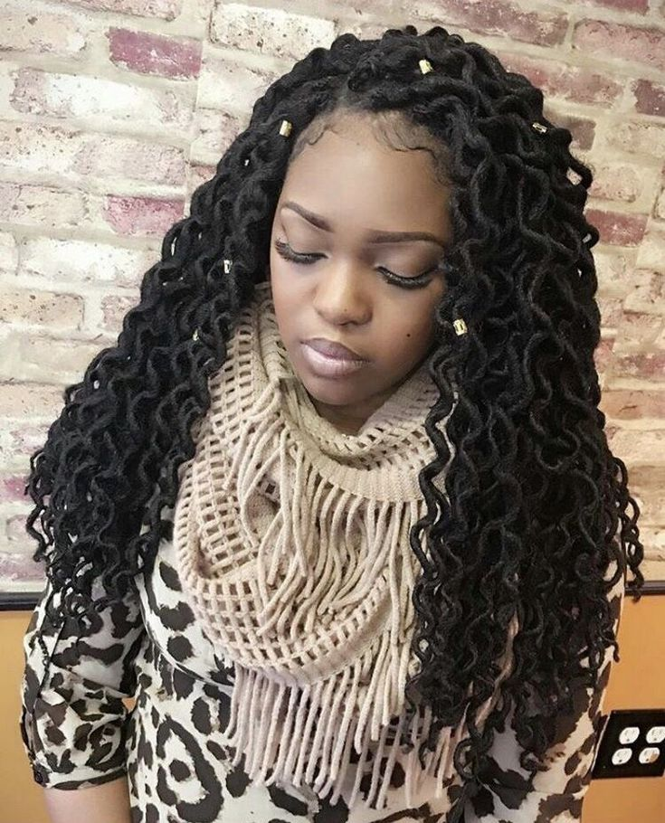 6 packs crochet faux locs curly ends (With images) | Hair styles, Faux locs hairstyles, Human ...