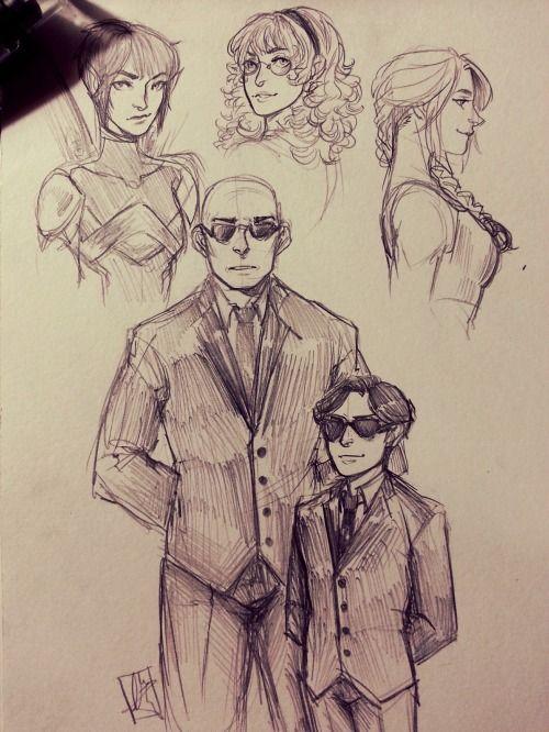 cranberrydelight: Artemis Fowl sketch dump, yeeeeeeee And okay, I might've changed Holly's design….again