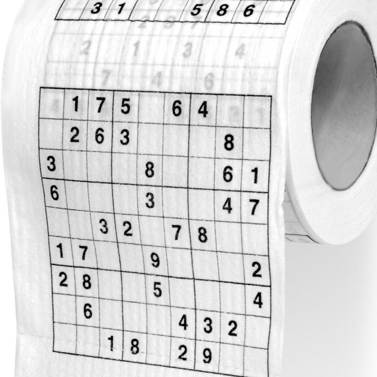 Carta Igienica Sudoku http://www.design-miss.com/carta-igienica-sudoku/ Per gli appassionati di Sudoku e cruciverba! Finalmente potrete risolvere i vostri rompicapi comodamente e senza disturbo durante la seduta quotidiana in bagno. Un momento di relax per il corpo e per la mente.  Sudoku: un gioco di logica Esistono diversi metodi risolutivi per questo gioco, tutte...