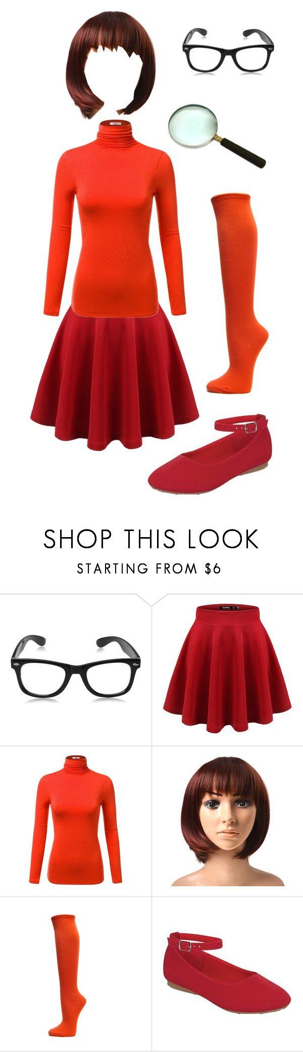 """""""Velma Costume"""" by itsafabulouslife ❤ liked on Polyvore                                                                                                                                                                                 More"""