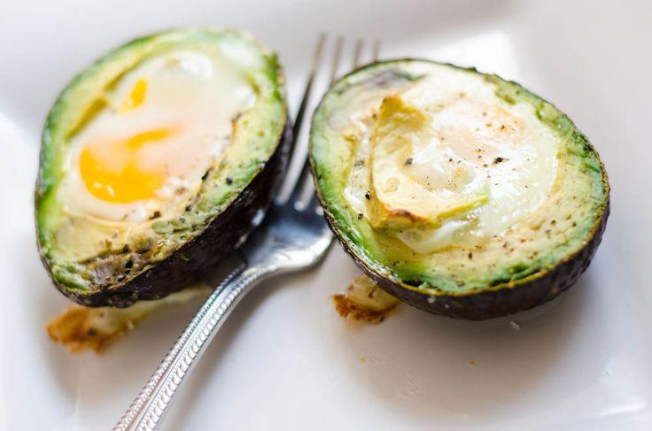 Baked eggs in avocado     Taryn Goodge