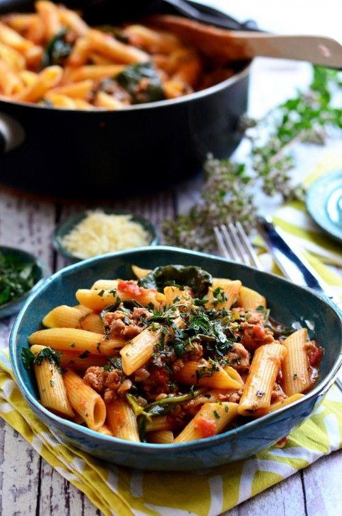 Egyben főtt spenótos-paradicsomragus tészta recept
