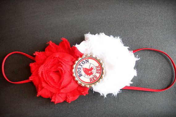 Boston Red Sox Headband by JustPrettybyJes on Etsy, $7.50
