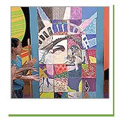 ZOOM, from my childhood!  ZOOM website has really fun crafts and kids' projects.  I still want to do this Statue of Liberty mural with a group of kids!