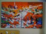 Obra de arte:  '' iglesia de pueblo '' Artistas y arte. Artistas de la tierra