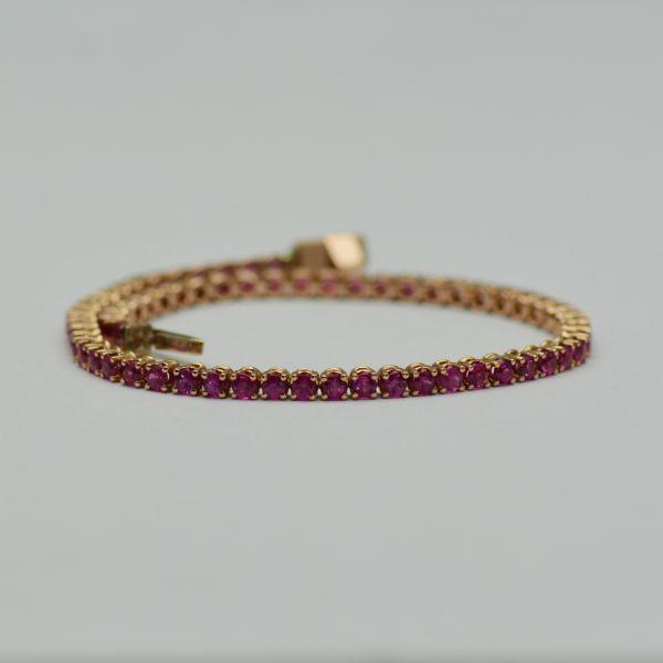 Bratara din aur roz cu rubine #bratariaurroz #bratararubine #rubine #rubybracelets #ruby