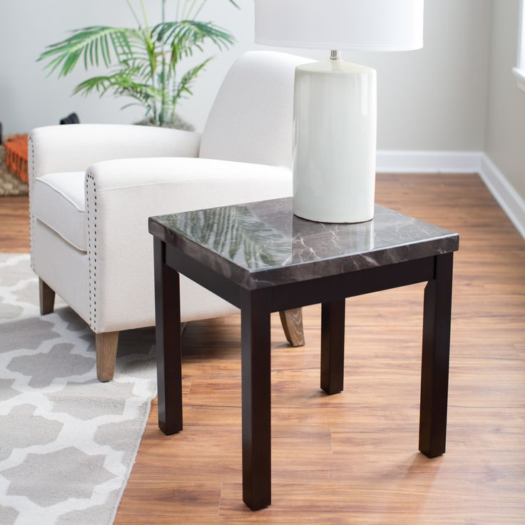 Milano Faux Marble End Table | from hayneedle.com