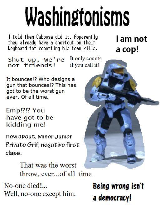 just some Washington sayings