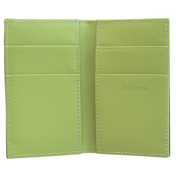Porte-cartes Hurbane - cuir vert