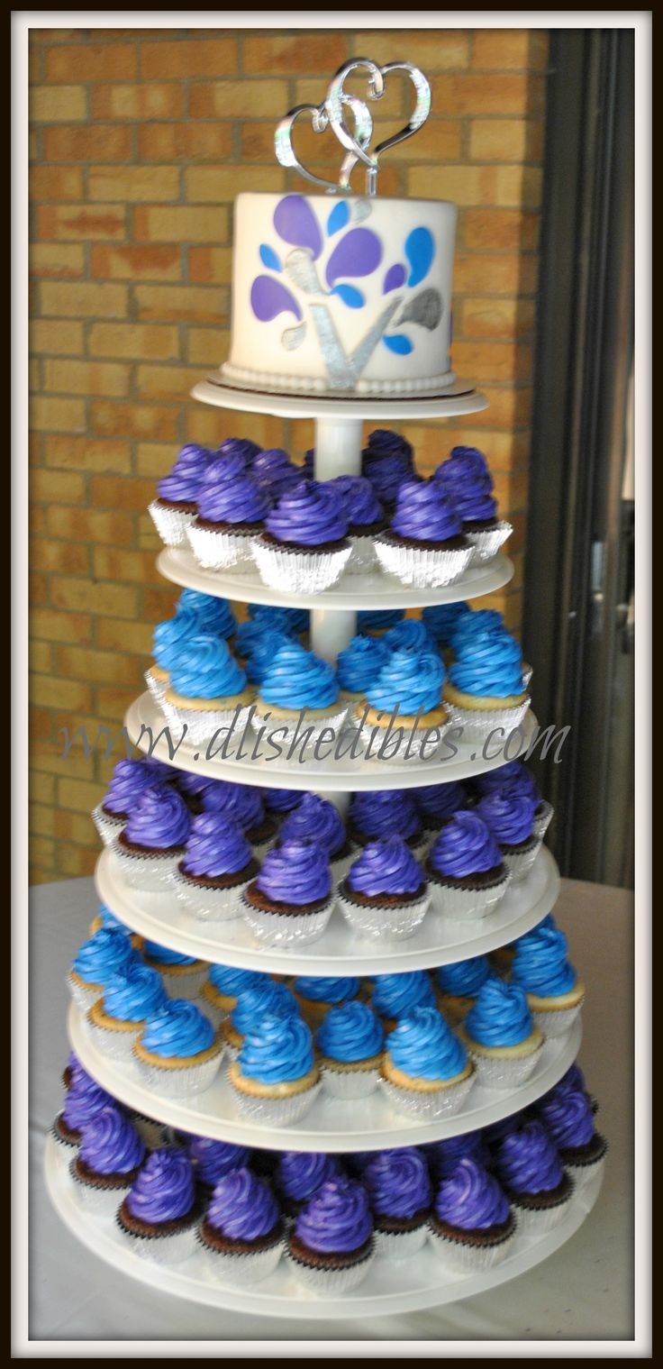 blue and purple cupcake wedding cakes 8 best images about cakespriation on and 11953