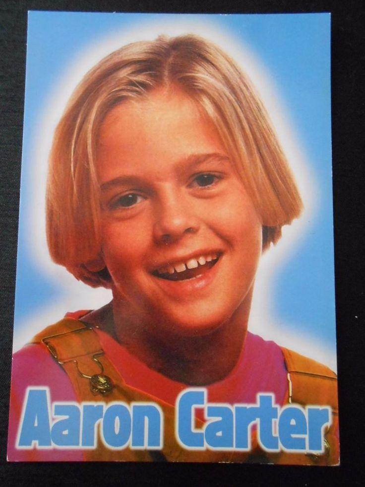 RARE OLD ORIGINAL AARON CARTER , POST CARD