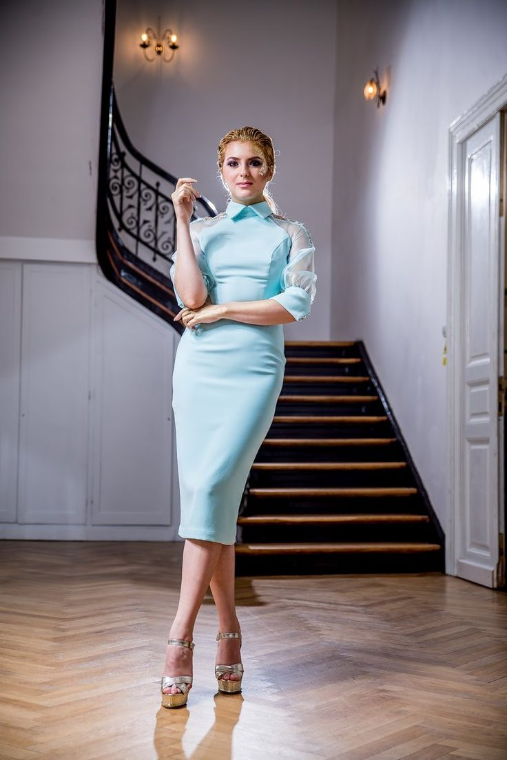 Conical style evening dress, from the #FashionbyLaina Golden Shades Collection
