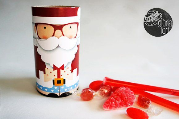Santa Claus _ paper game by glòria fort _ studio on @creativemarket