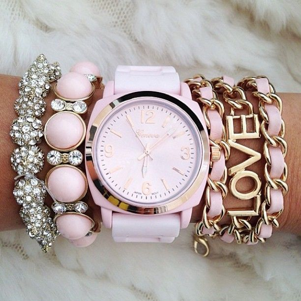 love pink arm candy #watch