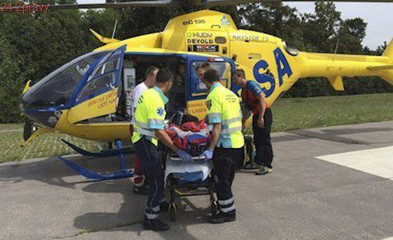 Batole se na Plzeňsku opařilo horkou kávou: Vrtulník ho odvezl na popáleninové centrum v Praze