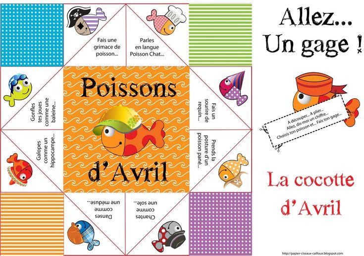 Papier, ciseaux, cailloux...: 1er Avril...