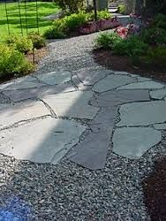 Image result for flagstone and gravel patio