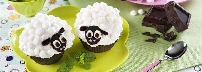 Cupcakes pecorelle deliziosi dolcetti per chiudere in bellezza il tuo menù di Pasqua.