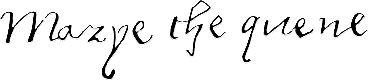 Mary Tudor (Bloody Mary) signature