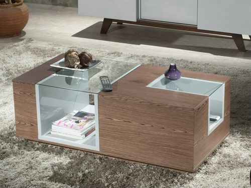 Modern Wood And Glass Coffee Tables