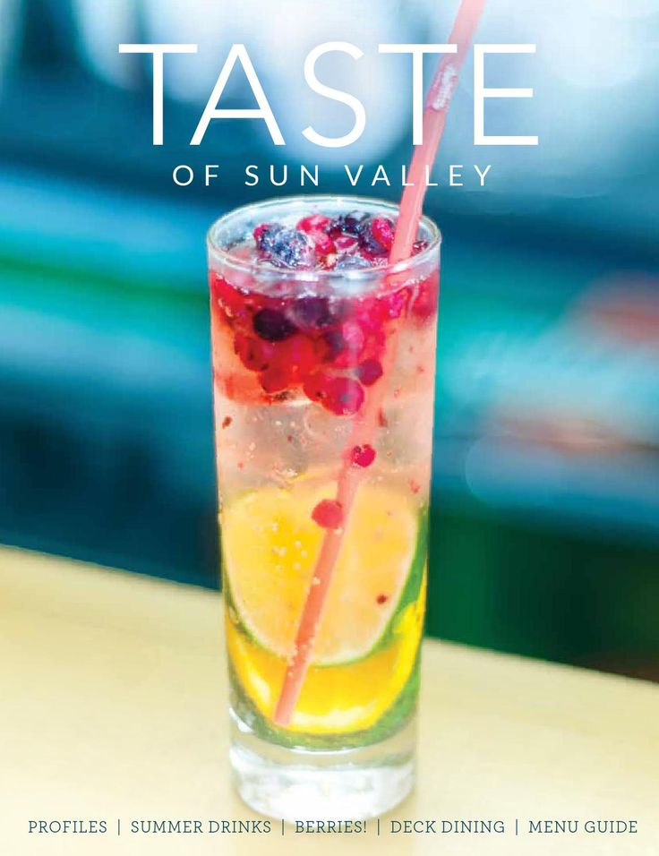 TASTE of Sun Valley  Sun Valley Magazine is proud to present the latest issue of TASTE of Sun Valley. Check out local chef profiles, our favorite summer cocktail recipes, a comprehensive  menu guide and the best in new restaurants. Bon appétit!