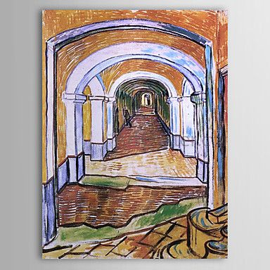 Famous Oil Painting Corridor in Saint-Paul Hospital by Van Gogh http://ltpi.co.nf/?item=569853