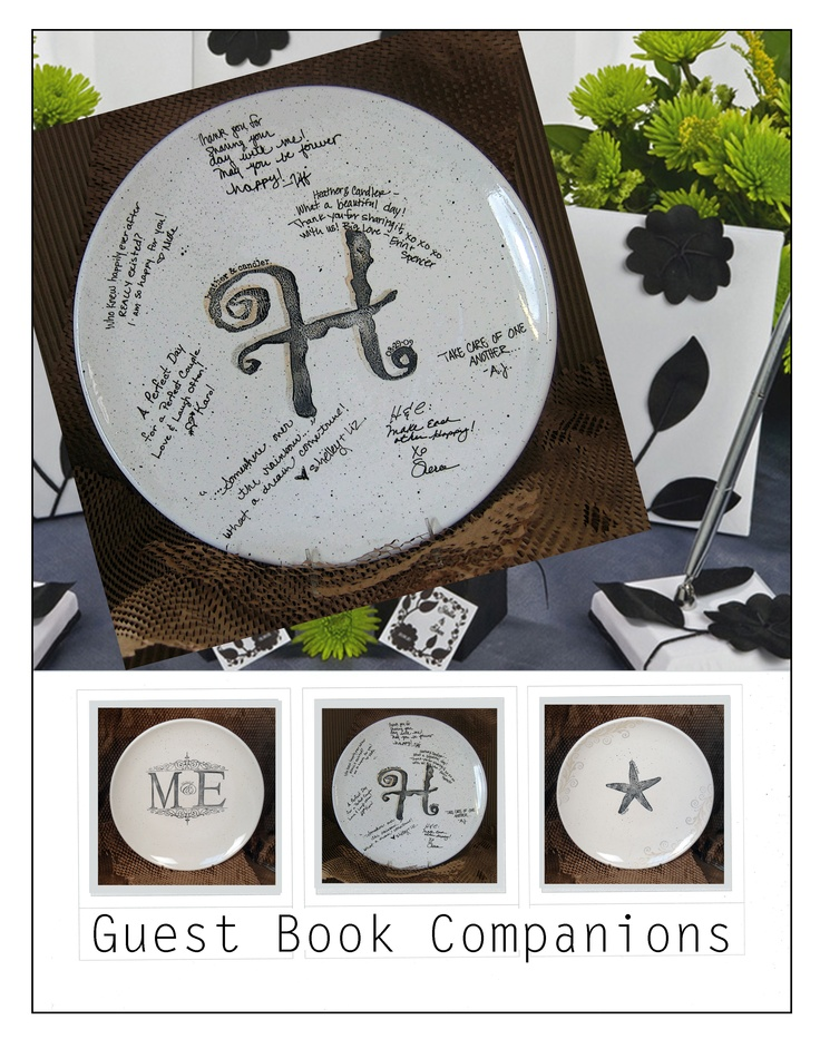 Handcrafted Artful Personalized Guest Book Platter Showing Up At Family Reunions Retirement Partieilestone Birthday Parties