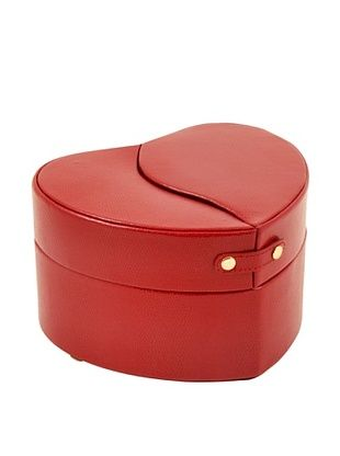 53% OFF Bey-Berk Heart Shaped Jewelry Box, Red