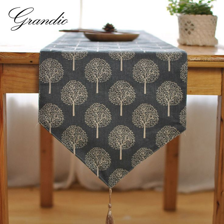 Cheap table runner, Buy Quality decoration table runner directly from China linen table runner Suppliers: Japanese Style Table Runner Elegant Cotton Linen Tablecloth with Tassel 2 Colors Tea Plant Printed Decorative Table Cloth Cover