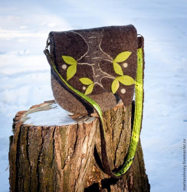 Tutorial Felted bag Мастер-класс по валянию сумочки с клапаном - Ярмарка Мастеров - ручная работа, handmade