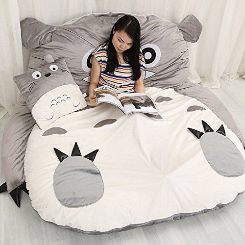 "YOYOMALL Super Soft My Neighbor Totoro Sleeping Bag,Warm Cartoon Tatami Beanbag,My Neighbor Totoro Sofa Bed,Twin Queen Bed Double Bed. (Size 2: 155CM * 190CM (61"" * 75"")) Bedding http://www.amazon.com/dp/B00NNEK6A4/ref=cm_sw_r_pi_dp_N5PWub061C88M"