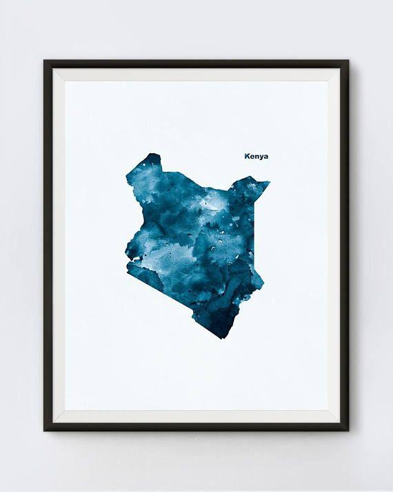 Kenya Map Kenya Print Watercolor Africa Print Poster   #kenyamap #artwork #design #abstract #digital #kenyaart #geography #stencil #typography  #africa #mapart #wallart #poster #travel #unique #homedecor #officedecor #landmark #country  #journey #kenyan #african #watercolor #kenya #symbol #cute #sign #outline