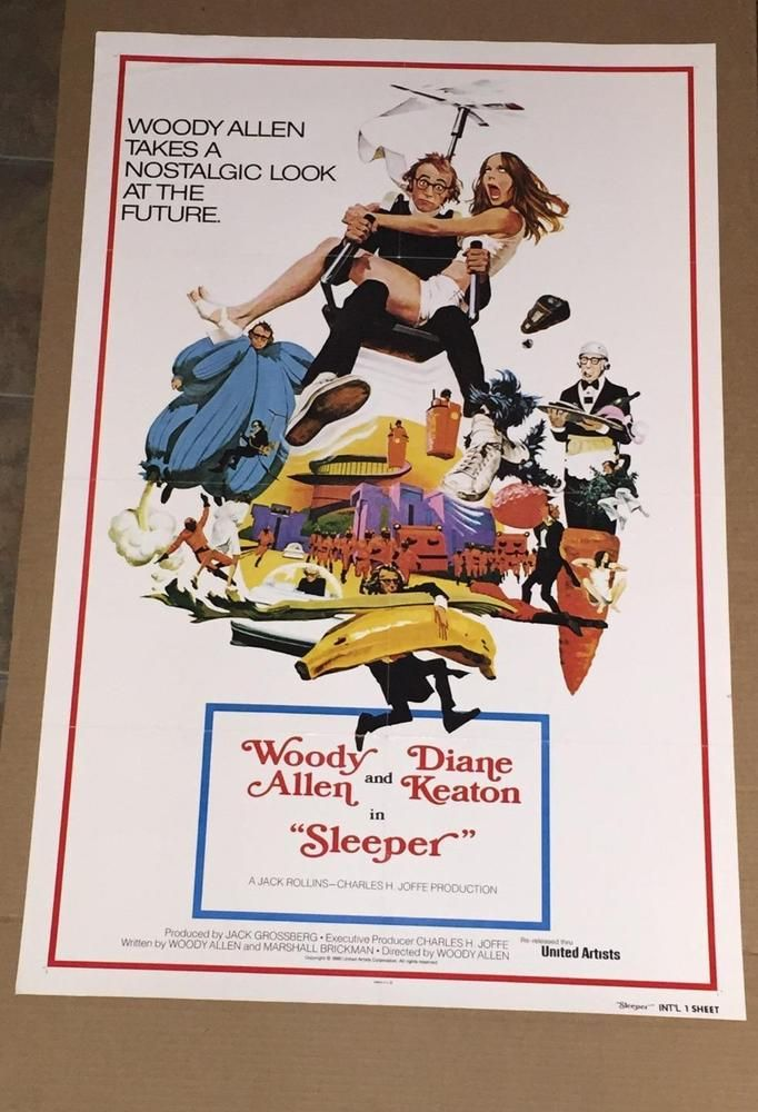 Sleeper Movie Poster 1980 Woody Allen Kiane Keaton Film International Re-Release